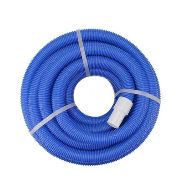 Blue Blow-Molded PE In-Ground Swimming Pool Vacuum Hose with Swivel Cuff - 50' x 1.5'